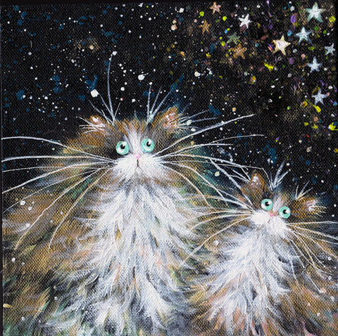 Stargazing painting by Kim Haskins