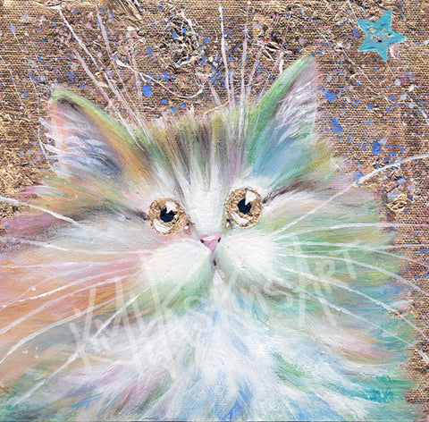 Starlight cat painting by Kim Haskins