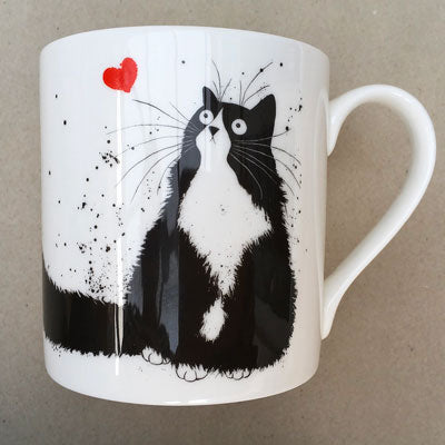 Sweetheart cat mug by Kim Haskins