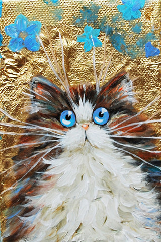 Theia cat painting by kim haskins