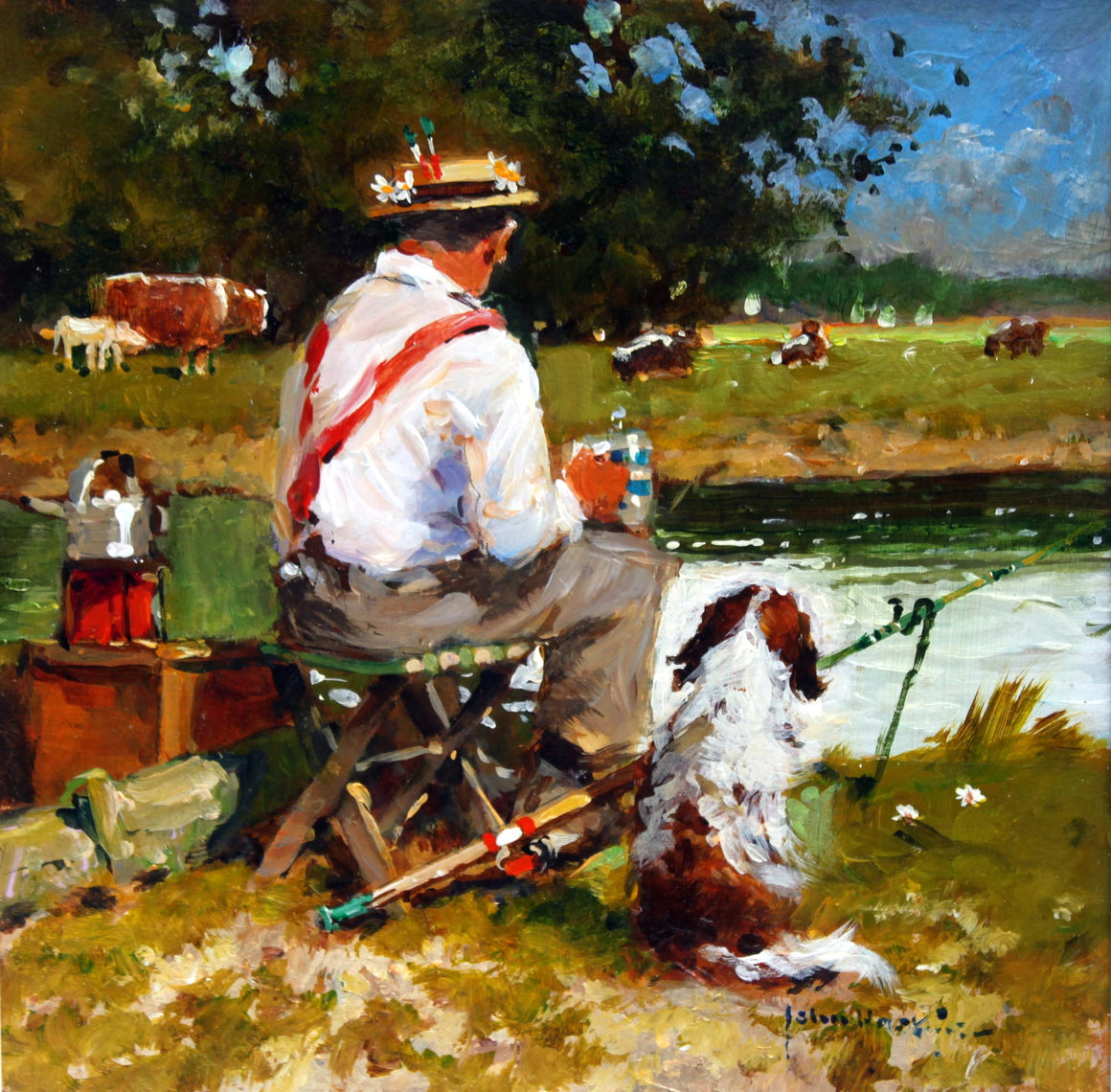 'Out For The Day' original painting by John Haskins