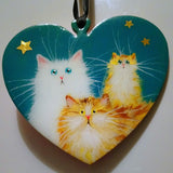 Ginger and white family - ornament