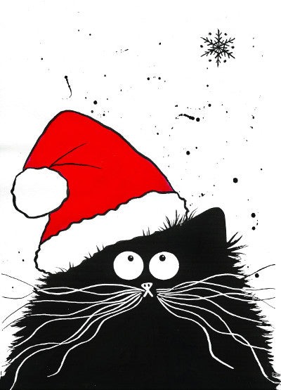 'Feline Festive' Christmas cards pack of 6