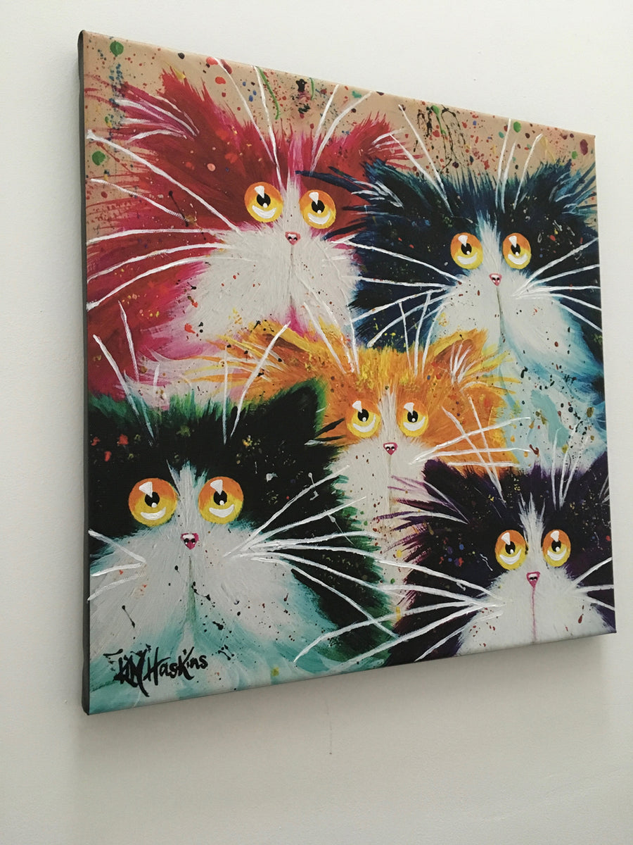 'Flash Mog Multicoloured' large canvas print