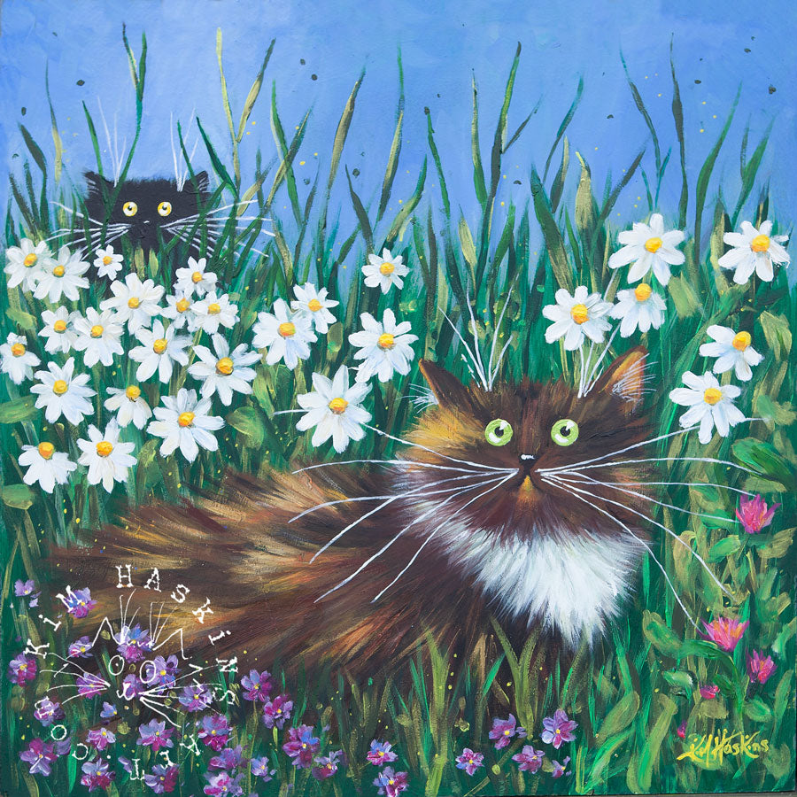 'Flower Prowlers' limited edition canvas print