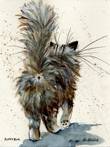 'Fluffy Bum' greetings card - Kim Haskins Art