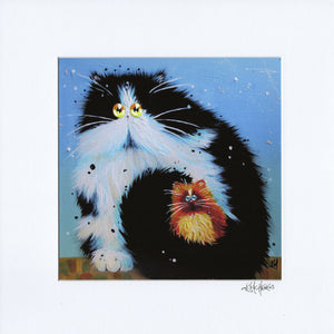 'Happy Tail' signed & mounted print