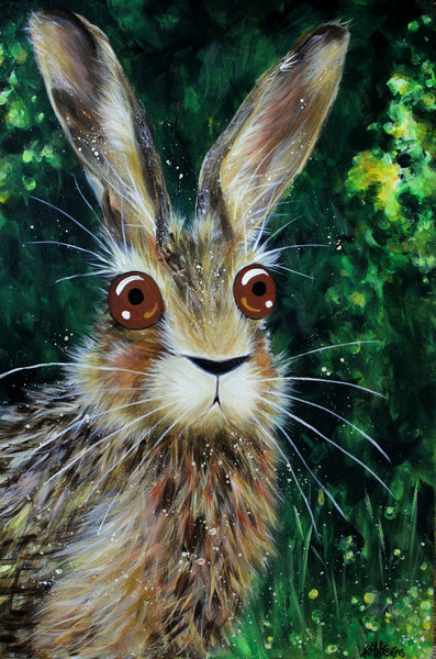 'Hare Today' painting - Kim Haskins Art