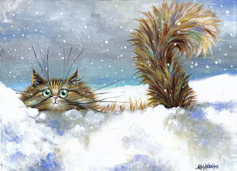 'In A Flurry' Christmas cards pack of 6
