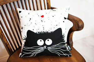 'Loving Feline' cushion cover