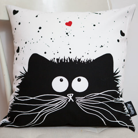 'Loving Feline' cushion