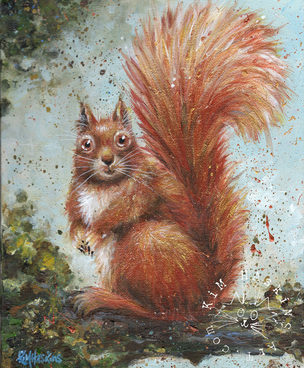 'Red Squirrel' signed print