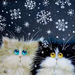 'Snowflakes' greetings card