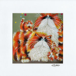 'Eight More Paws' signed & mounted print