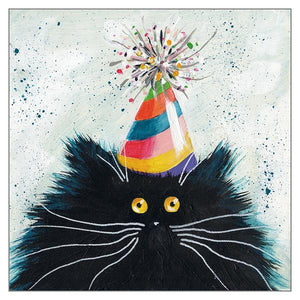 'Party Cat' greetings card