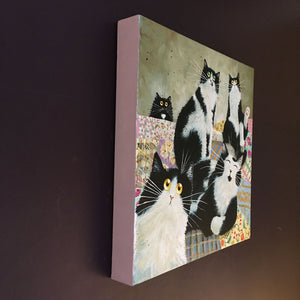 'Patchwork Cats' painting