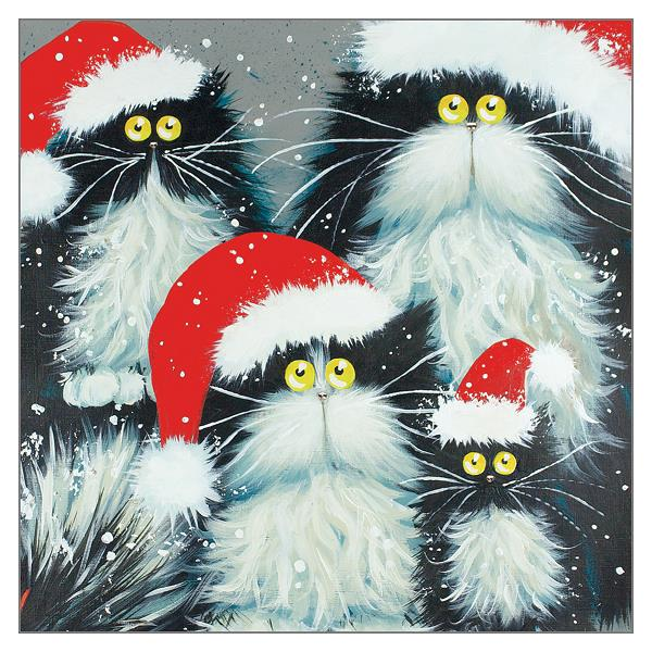 'Purrfect Christmas' greetings card