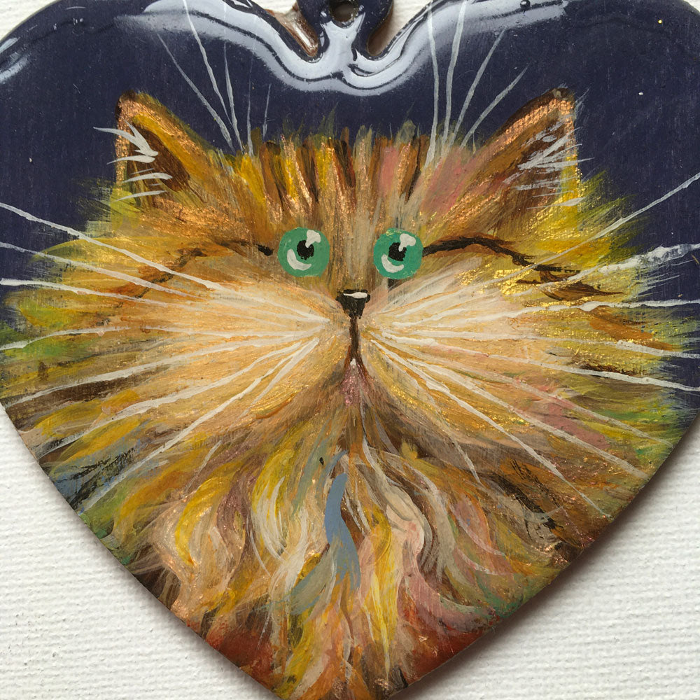 Rainbowish gold cat - almost perfect ornament