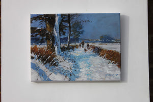'Snow On The Bridleway' special print by John Haskins