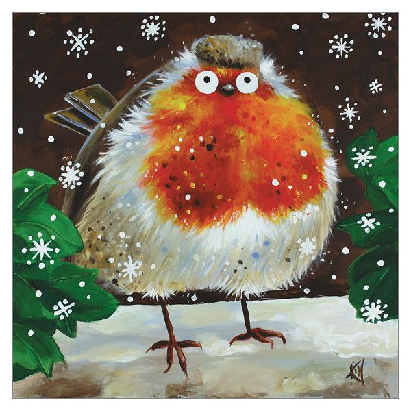 'Snowy Robin' greetings card