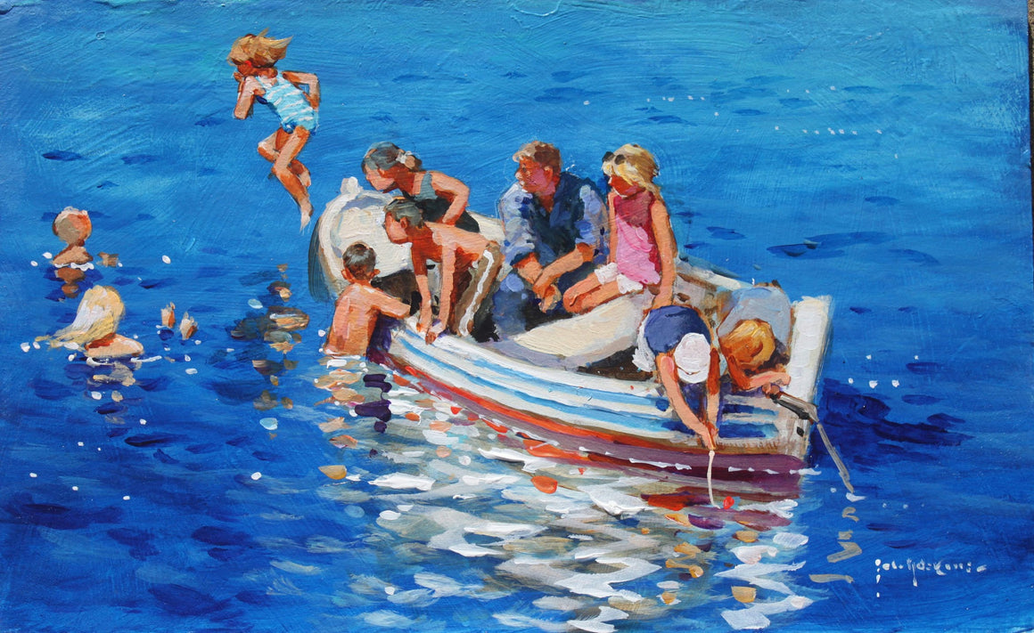 'Swimming Off The Little Boat' special print by John Haskins
