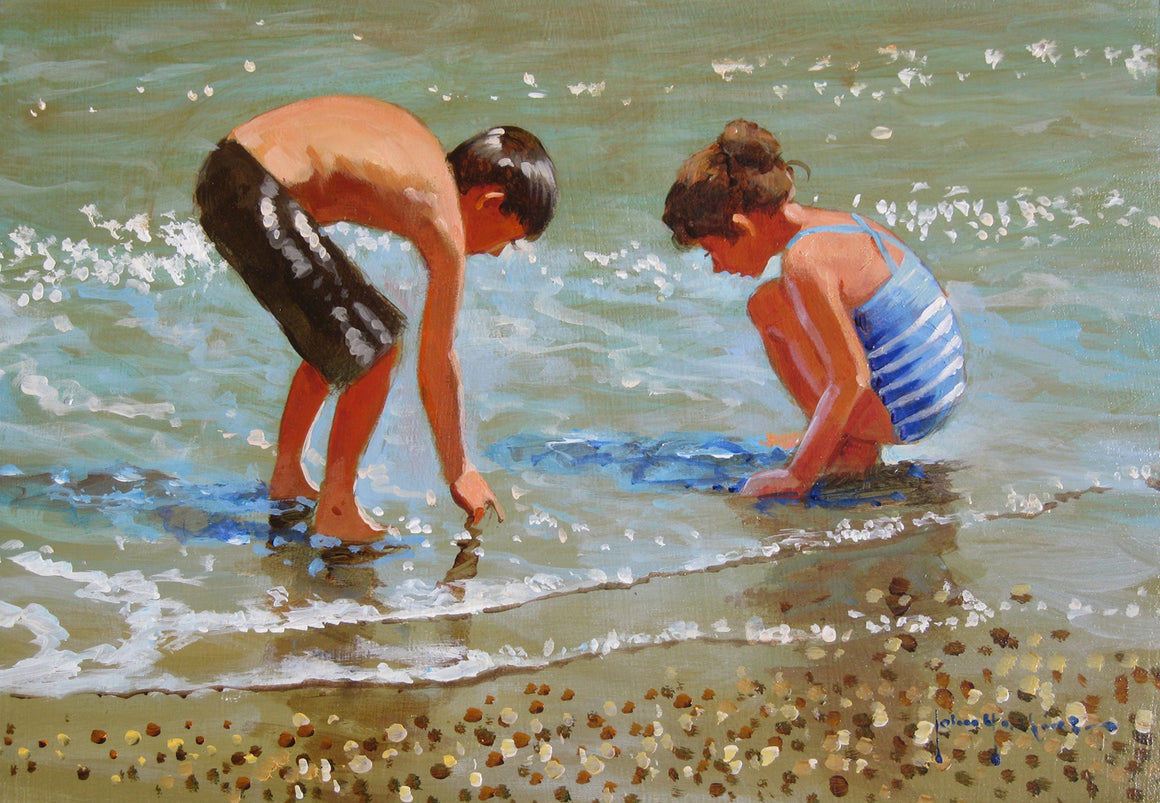 'The Pearl Seekers' original painting by John Haskins