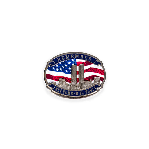 Twin Towers & Flag Lapel Pin