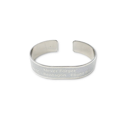 Never Forget Metal Memorial Bracelet