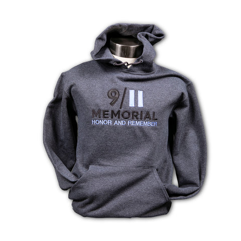 Embroidered Honor & Remember Grey Hooded Sweatshirt