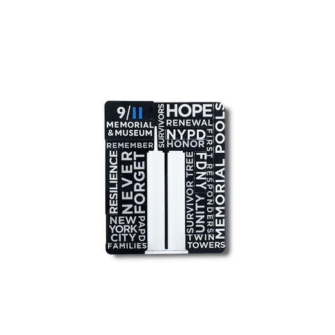 9/11 Memorial Typography Magnet