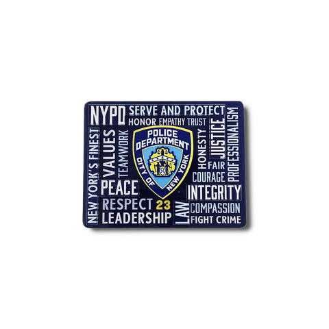 NYPD Typography Magnet