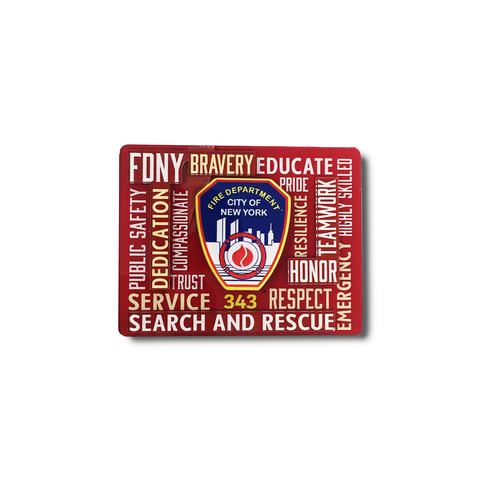 FDNY Typography Magnet