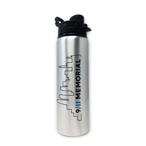 Silver Skyline Water Bottle