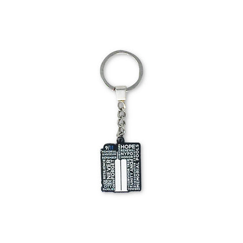 9/11 Memorial Typography Keychain