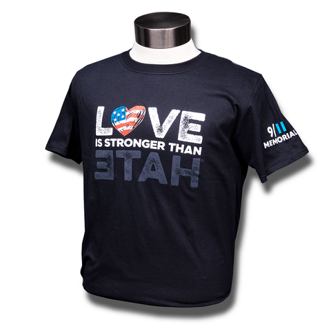 Love is Stronger than Hate Flag T-Shirt
