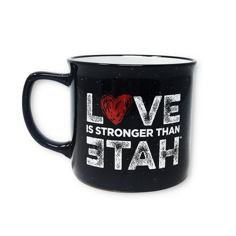 Love is Stronger than Hate Speckle Mug