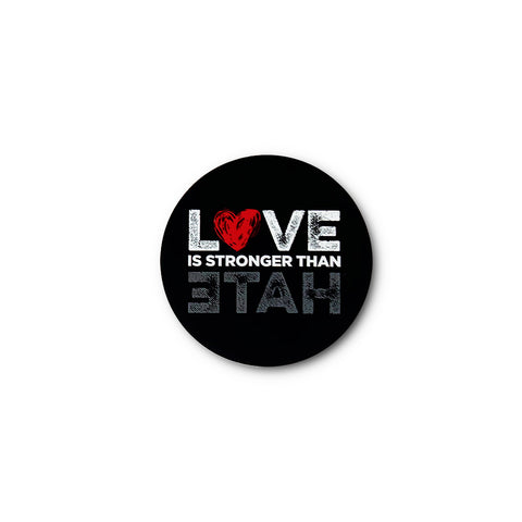 Love is Stronger than Hate Sticker - Black
