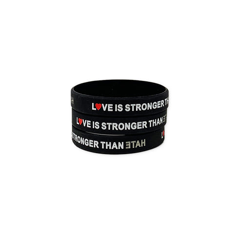 Love is Stronger than Hate Rubber Bracelet