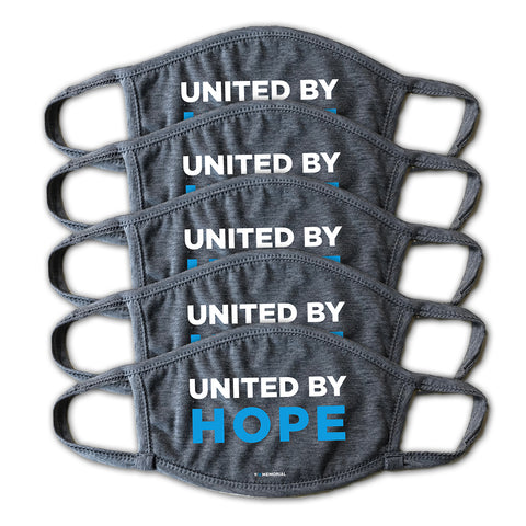 United By Hope Grey Face Mask - Buy 5, Give 5