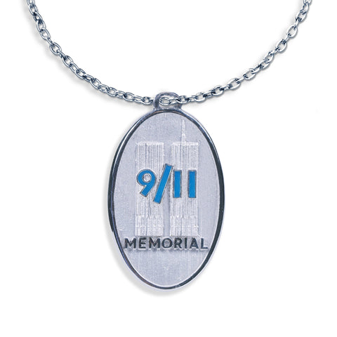 9/11 Memorial Oval Medal Necklace