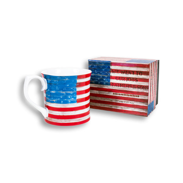 """Fathers and Sons"" Flag Mug"