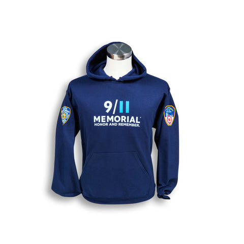 9/11 Memorial PD/FD Hooded Sweatshirt