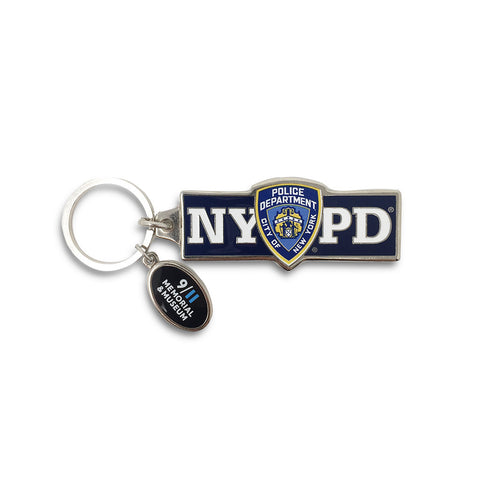 NYPD Block Letter Keychain