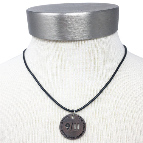 9/11 Memorial Skyline Token Necklace