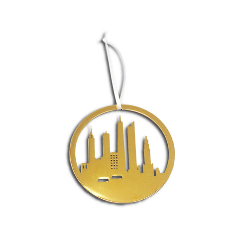 Manhattan Skyline 24K Gold Keepsake