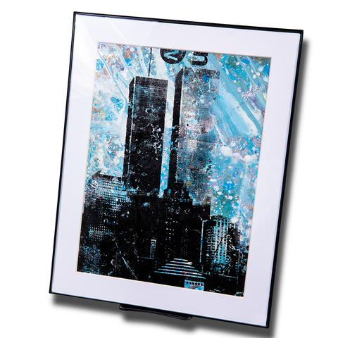 Twin Towers Small Framed Print