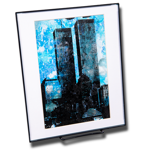 Twin Towers Large Framed Print