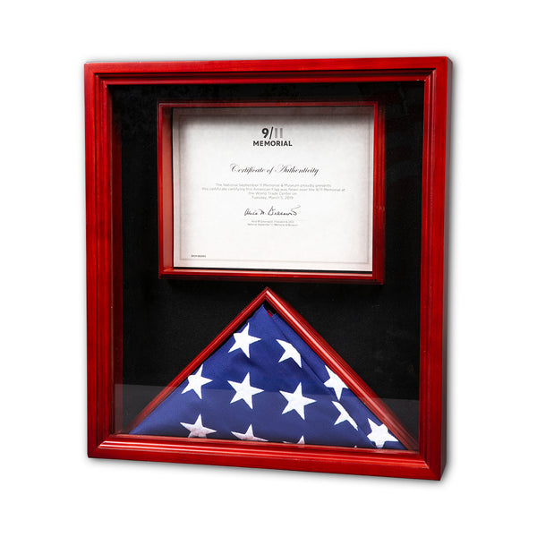 Encased Flown Flag & Certificate