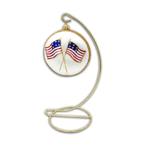 Flag and World Trade Center Medallion Keepsake