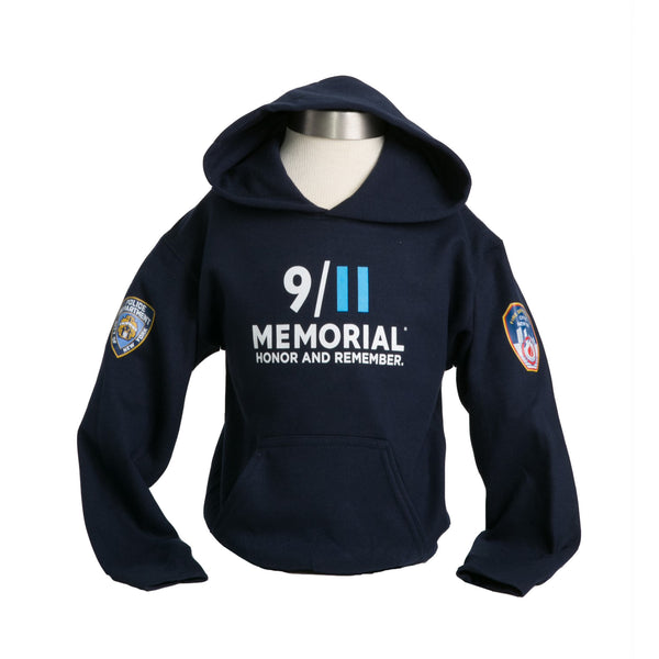 9/11 Memorial PD/FD Youth Hooded Sweatshirt